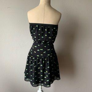 Rachel Roy Print Black Dress